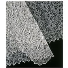 A very fine example of lace knitting, this shawl is made from wool plucked from the necks of Shetland sheep. It was given to the museum by Dr Katharine Lawson Dick, for whom it was made. Amy Johnston also knitted a similar shawl for the wedding of Princess Marina to George, Duke of Kent in 1934.