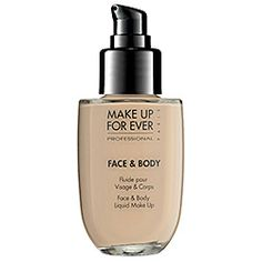 Makeup Forever Face and Body - the PERFECT light coverage. Balances out skin tone without weight.