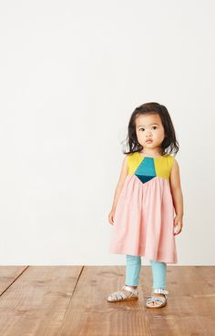 "aurora is an Italian girl's name that means ""dawn."" this dress is a pretty pick for your little ray of sunshine. available at teacollection.com"