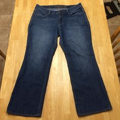 """Faded Glory Boot Cut Jeans, Size 18 Faded Glory boot cut jeans. Purchased and worn once, then realized they were too short on me (I'm 5'10"""" with long legs). They are in great condition!                                          Measurements                                                        Waist: 38 Inches                                                                     Inseam: 28 Inches Faded Glory Jeans Boot Cut"""