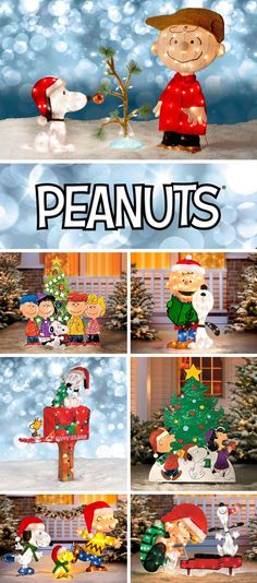 Love those adorable Peanuts characters? Fill your front yard with them for the holidays. Charlie Brown Christmas Decorations, Office Christmas Decorations, Christmas Yard Art, Very Merry Christmas, Christmas Love, Christmas Crafts, Outdoor Decorations, Christmas Lights, Christmas Ideas