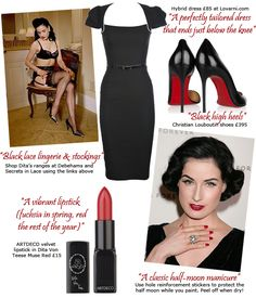 dita von teese makeup bag | Dita Von Teese talks fashion and shares her tips for a glamorous life ...