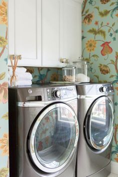 A lively laundry room: http://www.stylemepretty.com/vault/gallery/39444 | Photography: Kate Osborn Photography - http://kateosbornephotography.com/index2.php#!/h_o_m_e