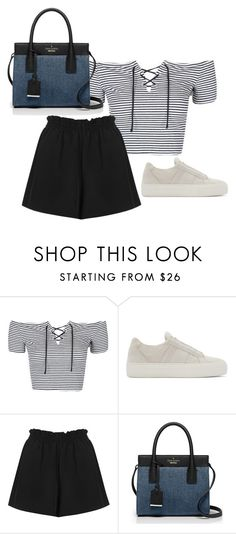 """Untitled #3571"" by ericacavaco12 ❤ liked on Polyvore featuring Topshop, Helmut Lang, Boutique and Kate Spade"