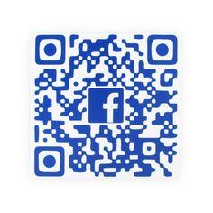 Placa QR Code Facebook