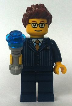 Lego Doctor Who 10th with Glasses and Sonic Screwdriver