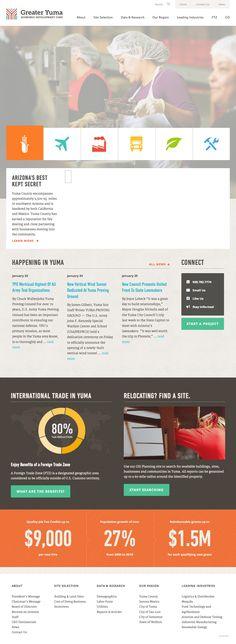 Greater Yuma EDC Logo & Website By FERVOR CREATIVE