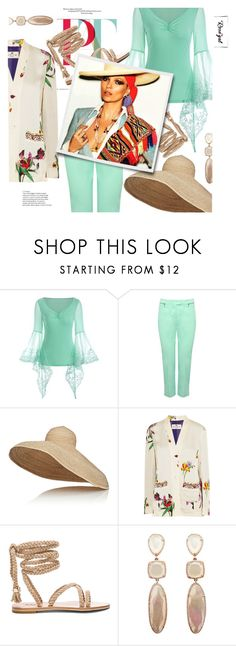 """⤷ 396 // RoseGal Contest"" by karenpoolak ❤ liked on Polyvore featuring M&Co, Lola and Etro"