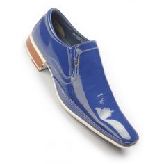 Hicks-7002 Upper: Calf, Sole: TPR, Lining: Cow Smart Shoes by Hitz , Real Patent leather uppers, Desirable look, Centre Trim, Slip on styling, Slim flat sole