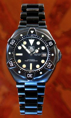 PVD TAG Heuer Super Professional- rare Diver watch