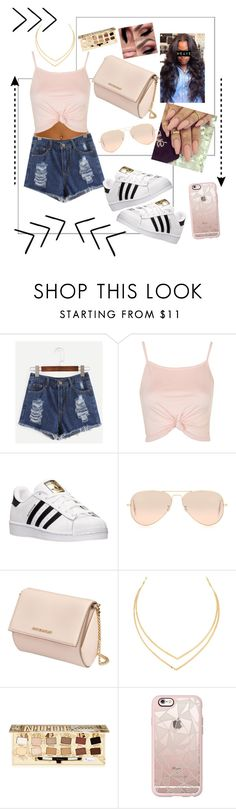 """Summer look"" by oyeket36 ❤ liked on Polyvore featuring Topshop, adidas, Ray-Ban, Givenchy, Lana, TheBalm and Casetify"