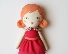 Soft pink & gold doll. Rag doll ballerina with a tutu. by blita
