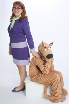 Daphne from Scooby Doo Dress Ladies Costume Set - Custom Made. $135.00, via Etsy.