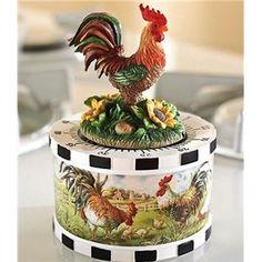 Rooster Figurine Kitchen Timer