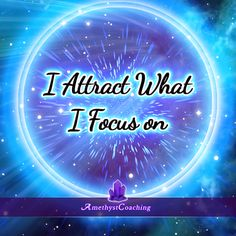 Today's Affirmation: I Attract What I Focus On  <3  #affirmation #coaching