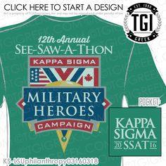 TGI Greek - Kappa Sigma - Philanthropy - Greek Apparel #tgigreek #kappasigma