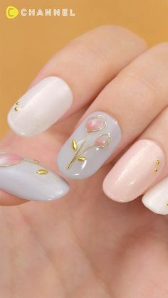 Pin on ネイル Pin on ネイル White Acrylic Nails, Pink Nail Art, Purple Nails, Nail Art Designs Videos, Nail Art Videos, Nail Art Hacks, Nail Art Diy, New Nail Art, Funky Nails
