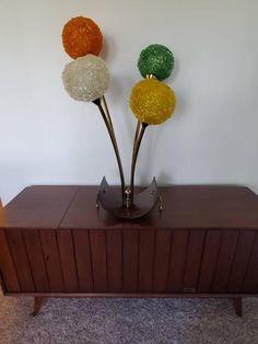 Vintage Lamps, Vintage Table, Vintage Furniture, Lucite Table, Table Lamp, Teak Coffee Table, Retro Lighting, Silk Art, Really Cool Stuff