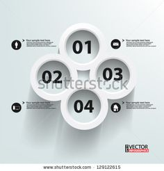 Eps10 Vector Abstract 3d Circles Infographics - 129122615 : Shutterstock