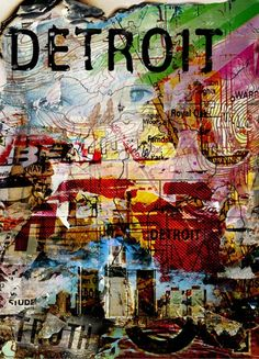 Detroit City Map by ATMDESIGNS on Etsy, $35.00