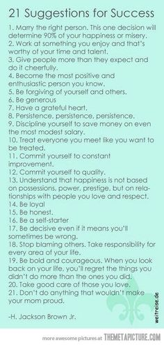 21 suggestions for success  Click this picture to check out my blog!