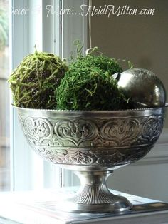 Decorative Moss Balls Stunning Pea And Moss Balls  Simple Crafts Craft And Indoor Wreath Decorating Inspiration