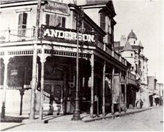 Tom Anderson's Annex. The unofficial welcome center and city hall of Storyville. Located at the corner of Basin and Iberville, the first building one encountered when entering the district.