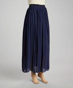 Look what I found on #zulily! Navy Ruched Skirt #zulilyfinds