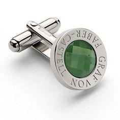bouton de manchette jade
