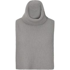 Tome Grey Merino Wool Neck Piece (515 CAD) ❤ liked on Polyvore featuring tops, sweaters, merino wool turtleneck, turtleneck tops, grey top, gray sweater and merino sweater
