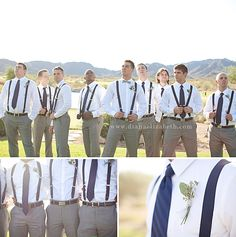 Suspenders | Let us help you plan all the details for your day! www.PerfectDayWeddingPlanners.com