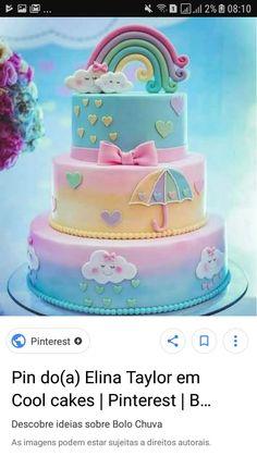 Beautiful Cake Pictures, Beautiful Cakes, Amazing Cakes, Baby 1st Birthday, Unicorn Birthday, Birthday Cake, Baby Shawer, Dessert Decoration, Little Star
