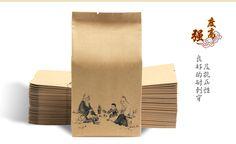 500 pçs/lote saco de papel Kraft para embalagens de papel chá saco de embalagem de chá com impressão reforço lateral com volta selado * 23 cm em Bolsas de acondicionamento de Indústria e Ciência no AliExpress.com | Alibaba Group