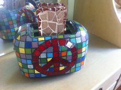 A Peace of Toast Mosaic Toaster by PamelaMakesStuff on Etsy, $95.00