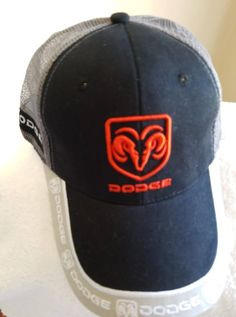 e9fa7e72b47 Dodge logo - Gray Mesh white black red trim on a new ball cap