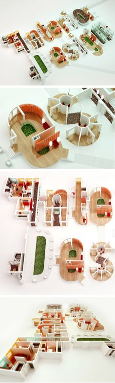 Interior Design - 3D typography