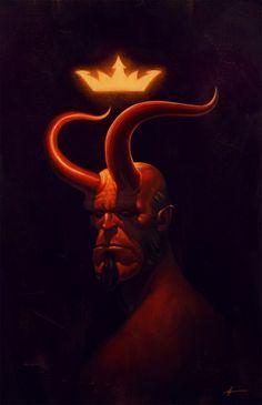 Ilustrações de Hellboy em homenagem a seus 20 anos