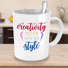 Name Mugs, Out Of Style, Words Of Encouragement, Going Out, Coffee Mugs, Best Gifts, Rainbow, Etsy Shop, Crafty
