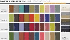 WGSN FW17/18 Colour Forecast