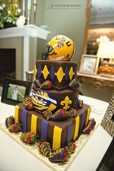 These cakes are outstanding! LSU Grooms Cake I normally don't like LSU cakes but this is perf!