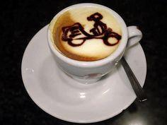 Vespa coffee c[_] latte and cappuccino