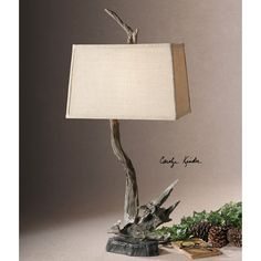 Uttermost Portland Rustic Black Table Lamp 26237
