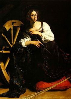 "Le Caravage,""Catherine"", 1599."