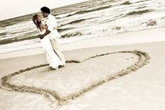 This picture is a must-have for the beach wedding couple