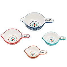 Avon Serafina Collection Ceramic Measuring Cups. $14.99 @ https://dbuckley.avonrepresentative.com Prepare with style! Set of 4 measuring cups that will not only help you prepare, but add decor to your kitchen, too! Avon product number 921-813.