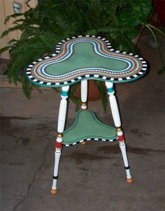 Hand Painted Table  FREE SHIPPING by PeaceOnTheRocks on Etsy, $300.00