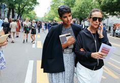 Princess Deena Abdul-aziz (left) wearing #maxmara