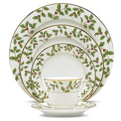 Found it at Wayfair - Holly and Berry Gold 5 Piece Place Setting