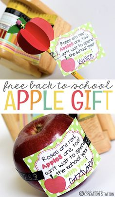 A Back to School Gift for Teachers, Students or Parents - MJCS diy back to school, school highschool, school supplies freshman Apple School, Welcome Back Gifts, Welcome Back To School, Back To School Gifts For Teachers, Back To School Supplies, Student Gifts, Teacher Gifts, Back To School Highschool, School School