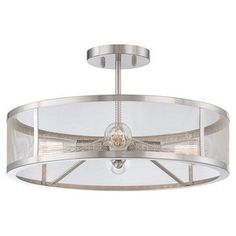 Shop for Minka Lavery 4134 4 Light Semi-Flush Ceiling Fixture from the Downtown Edison Collection. Get free shipping at Overstock.com - Your Online Home Decor Outlet Store! Get 5% in rewards with Club O!
